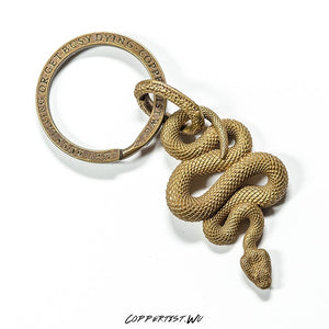 Brass Snake Key chain - SHIMOH