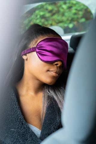 The Luxe On A Budget Club 100% Organic Mulberry Silk Eye Mask