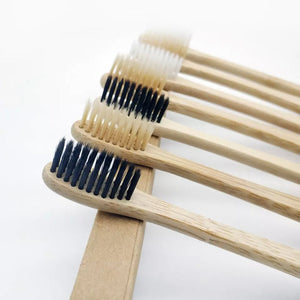 100% Biodegradable Bamboo Eco Friendly Toothbrush (3 Pack)