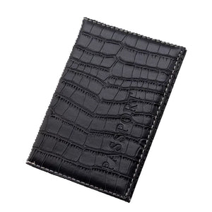 Faux Crocodile Skin Passport Cover / Card Holder