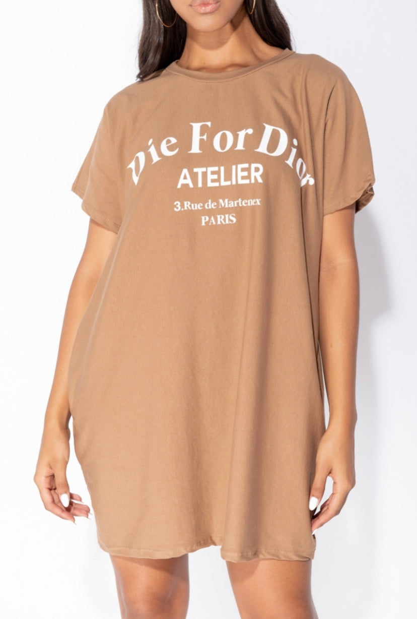 Die For Dior T-shirt Dress