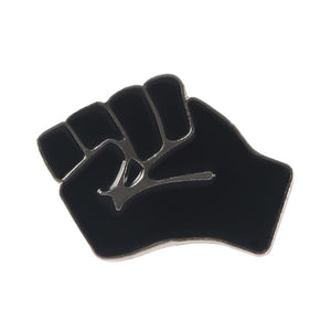 Raised Fist Of Solidarity Enamel Lapel Pin Badge Black Lives Matter