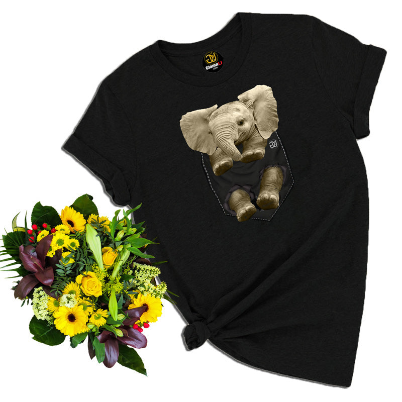 baby elephant t shirt, elephant t shirt, animal t shirt, black t shirt