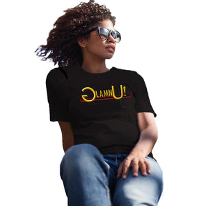 glamn u express it, black t shirt