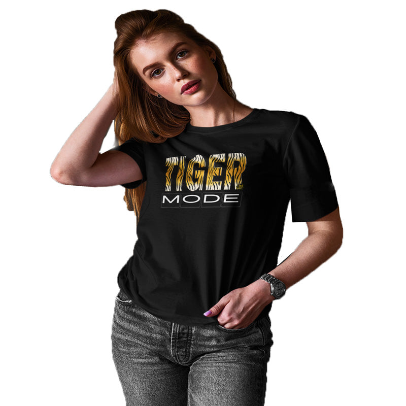 tiger mode t shirt, black t shirt, tiger t shirt