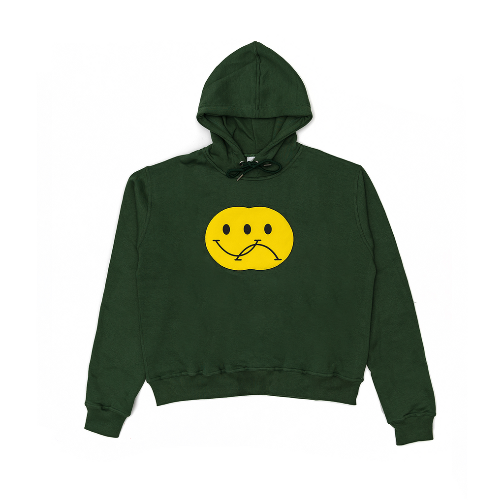 Green Double Smiley Hoodie