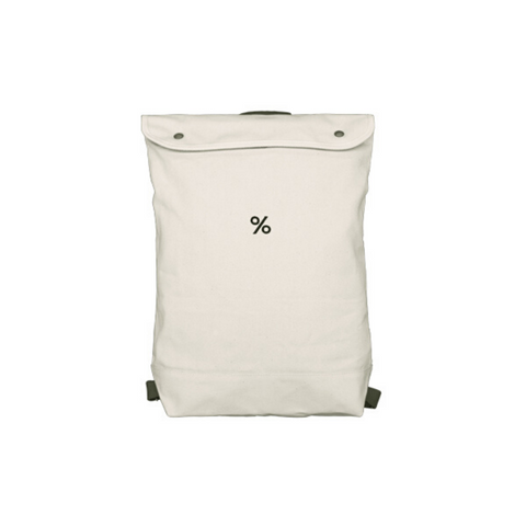 Backpack Large size White Colour with % ARABICA logo
