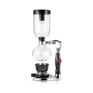 Tabletop Siphon Gravity Coffee Maker with Alcohol Burner - Glass - 3 Cups