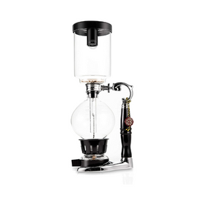 Tabletop Siphon Gravity Coffee Maker with Alcohol Burner - Glass - 5 Cups