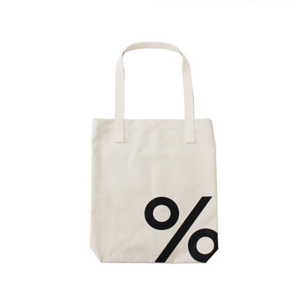 Tote Bag with % ARABICA logo in front