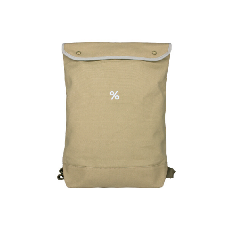 Backpack Large size Beige Colour with % ARABICA logo