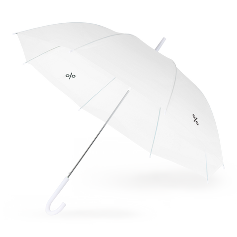 White Umbrella with % ARABICA LOGO at both side