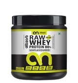 Raw + Whey Protein 80% with Digestive Enzymes, Unflavored – 250g