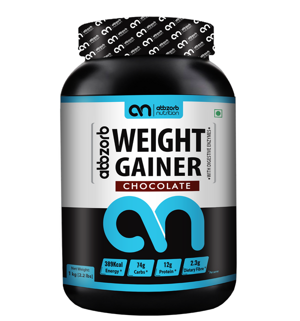 Weight Gainer with Digestive Enzymes, Chocolate - 1Kg