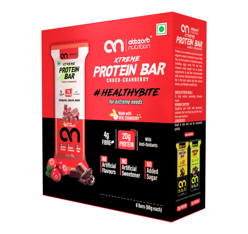 Xtreme Protein bar Choco-Cranberry, 6 Bars - 60g Each