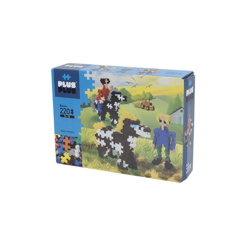 Plus-Plus Horses and Riders Mini Basic 220 peças