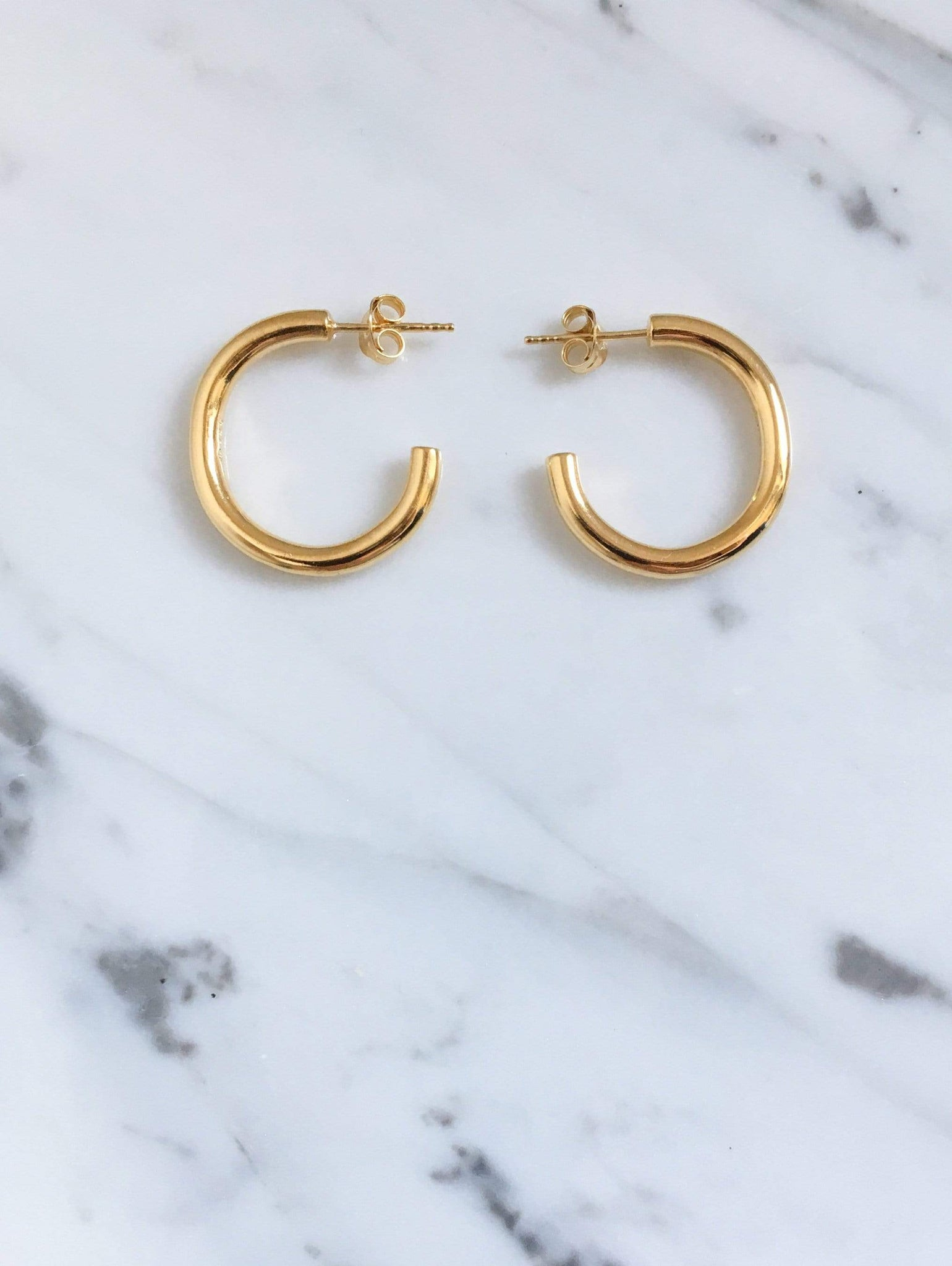 Lamé hoop earrings - IDAMARI