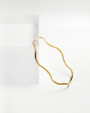 Unna smooth wave bracelet - IDAMARI