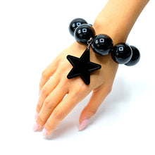 Load image into Gallery viewer, BRACCIALE STAR NERO - malikaforhappypeople
