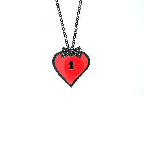COLLANA LOVE LOCKED ROSSO - malikapeople