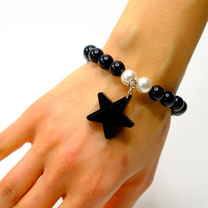 BRACCIALE MINI STAR NERO - malikapeople
