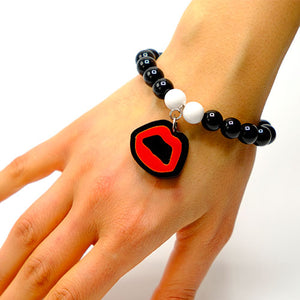 BRACCIALE MINI KISS NERO - malikapeople