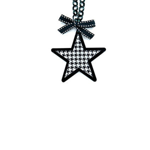 COLLANA STAR PIED DE POULE - malikapeople