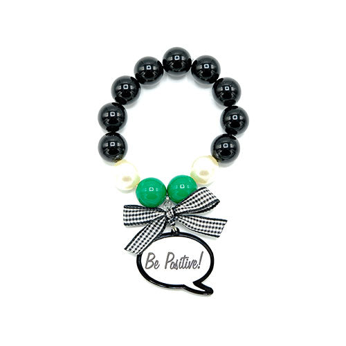 BRACCIALE CARTOON VERDE BE POSITIVE - malikapeople