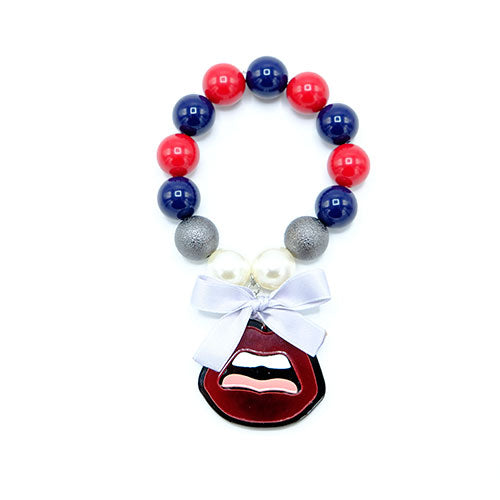 BRACCIALE KISS BORDEAUX - malikapeople