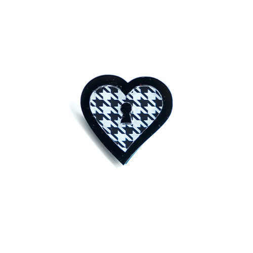 ANELLO LOVE LOCKED PIED DE POULE - malikaforhappypeople