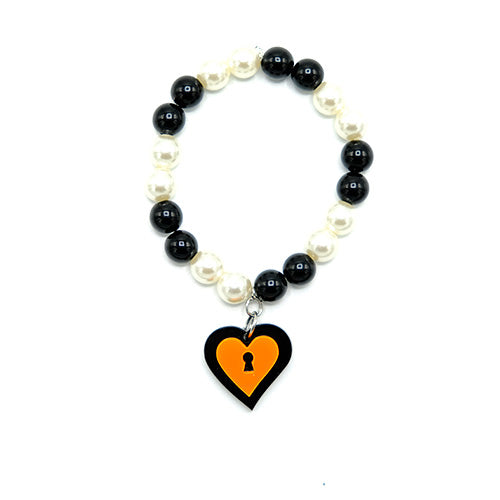BRACCIALE MINI LOVE LOCKED ARANCIO - malikapeople