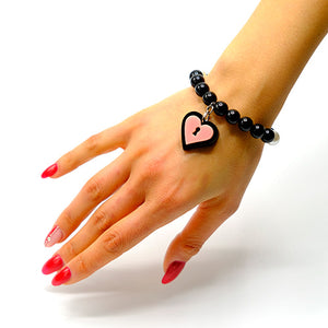 BRACCIALE MINI LOVE LOCKED ROSA