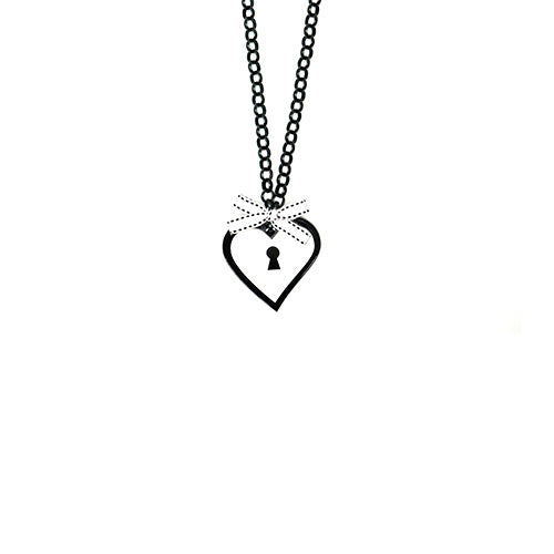 COLLANA BABY LOVE LOCKED BIANCO - malikapeople