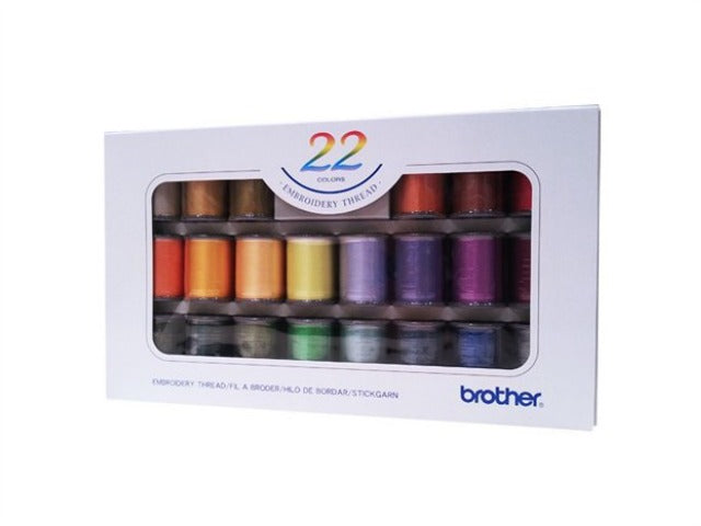 Brother Boxed Embroidery Thread - 22 Pack
