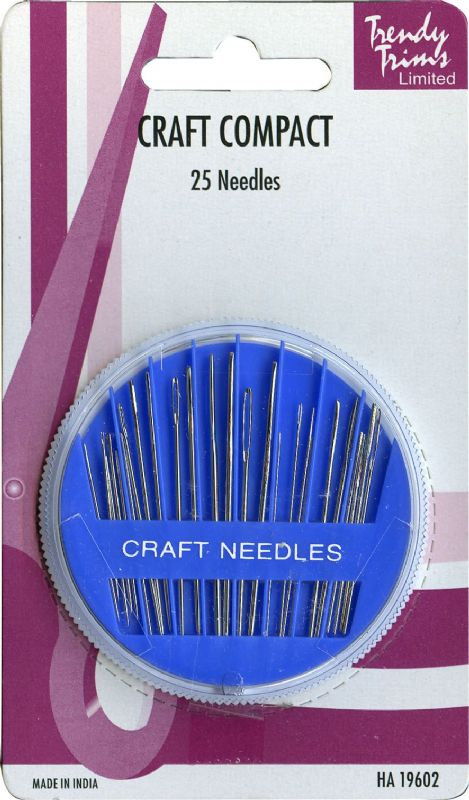 Assorted Craft Needles Compact