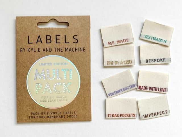 Metallic Multi Pack Woven Labels