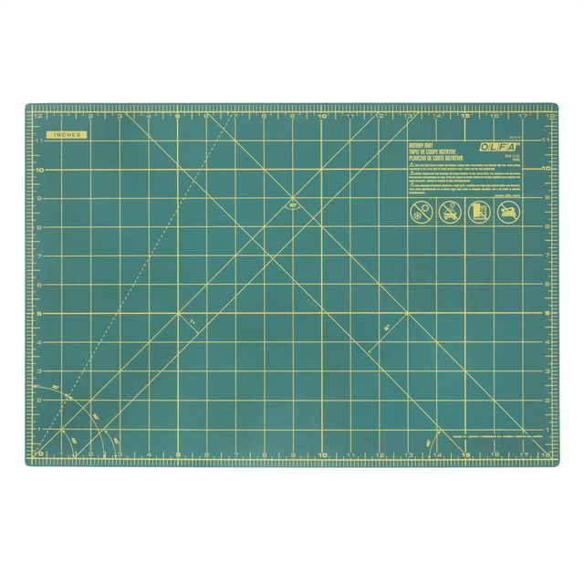 "Olfa Double Sided Rotary Mat (Small: 12"" x 18"")"