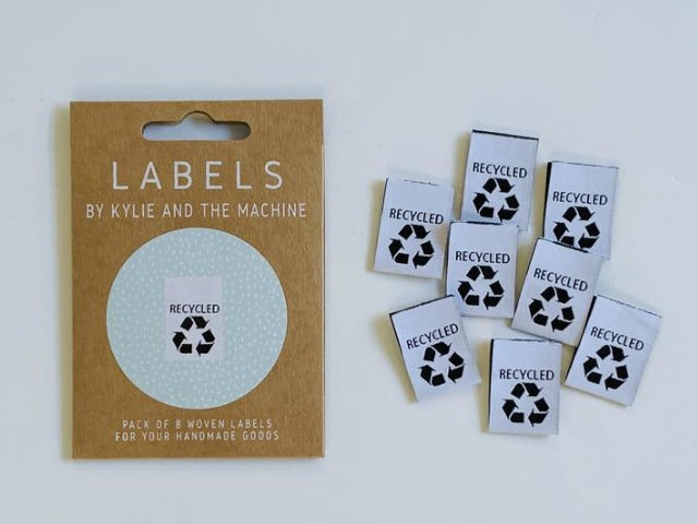"Woven Labels - ""Recycled"""