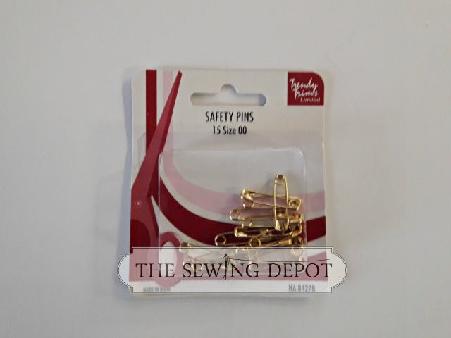 Brass Safety Pins - Size 00