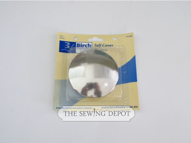 Self Cover Button - Metal 64mm