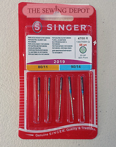 Singer Home Sewing Machine Needles - Quilting