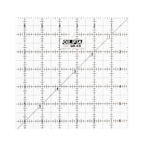 "Olfa Quilting Ruler 6.5"" x 6.5"""