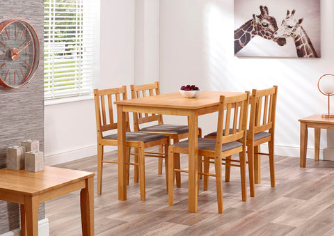 Trinity Dining Table & 4 Chairs - Property Letting Furniture