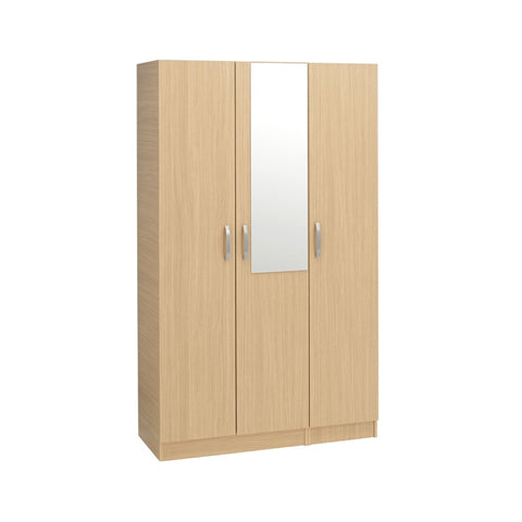 Calgary Triple Wardrobe (With Mirror) - Property Letting Furniture