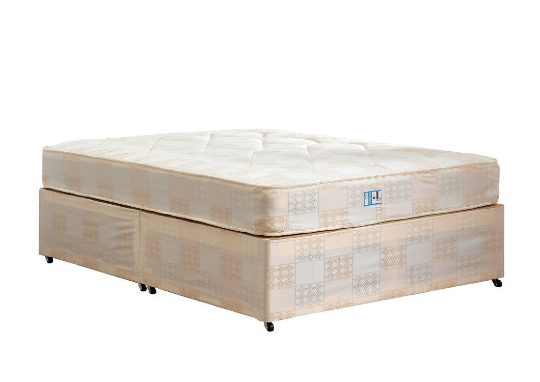 Deep Quilt Double Divan Set (Base & Mattress) - Property Letting Furniture