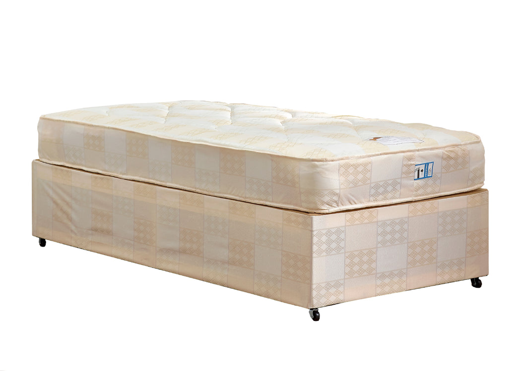Ortho Single Divan Set (Base & Mattress) - Property Letting Furniture