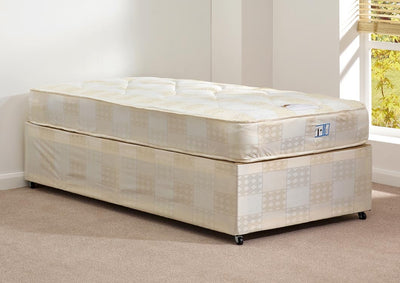 Deep Quilt Single Divan Set (Base & Mattress) - Property Letting Furniture