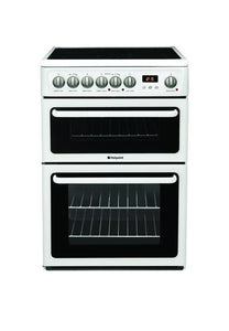 WHITE - Double Cavity Free Standing Electric Cooker (600mm Wide) - Property Letting Furniture