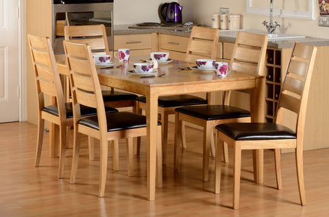 Logan Dining Table & 6 Chairs - Property Letting Furniture