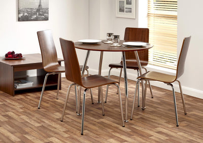 Naples Round Dining Table & 4 Chairs - Property Letting Furniture